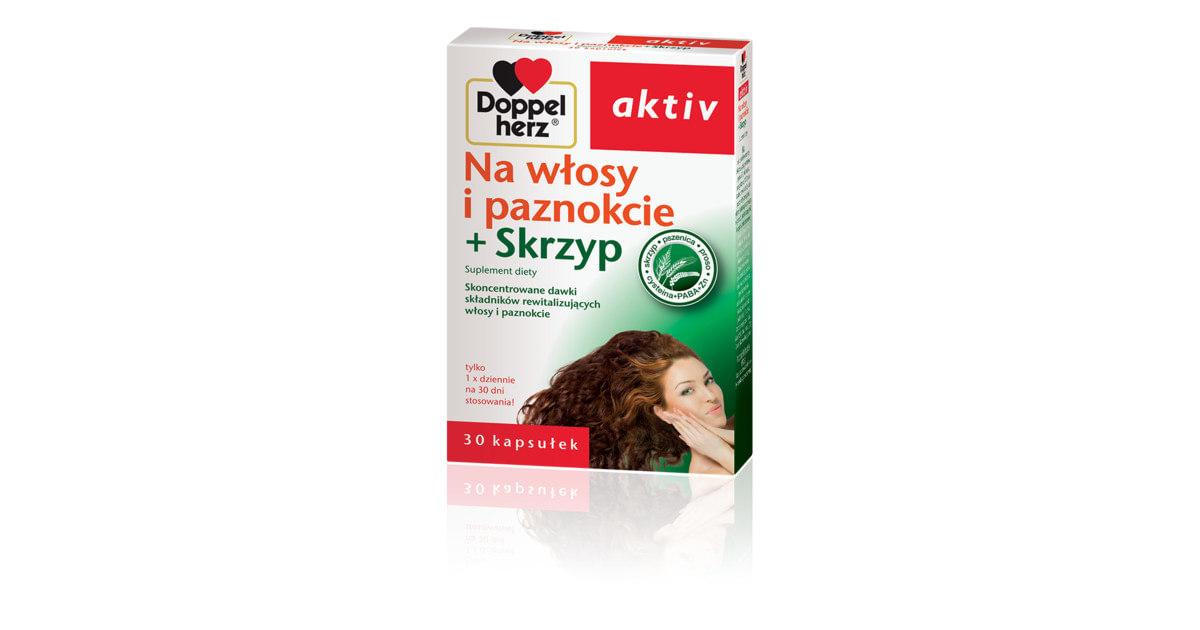 Doppelherz Aktiv + Biotyna i Skrzyp na Włosy i Paznokcie