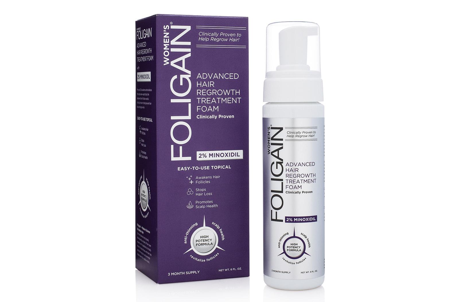 Foligain – Minoxidil Foam for Women – Pianka Hamująca Wypadanie