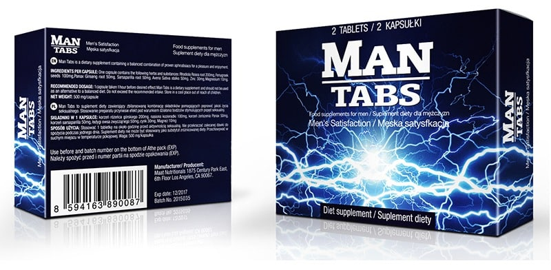 Man Tabs – skład i opinie, jak działa, skutki uboczne